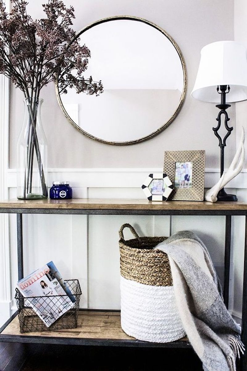 entryway with mirror